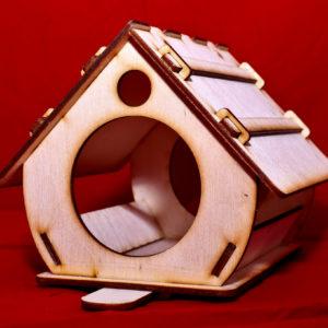Lasercut24 - Vogelhaus/Futterstelle aus Holz