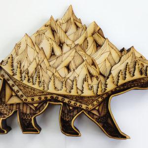 Lasercut24 - Mehrschicht/Multilayer Bär aus Holz