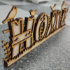 Lasercut24 - Multilayer/Mehrschicht Home-Schild aus Holz