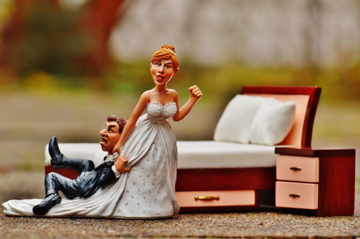 Hochzeitsdekoration aus Holz