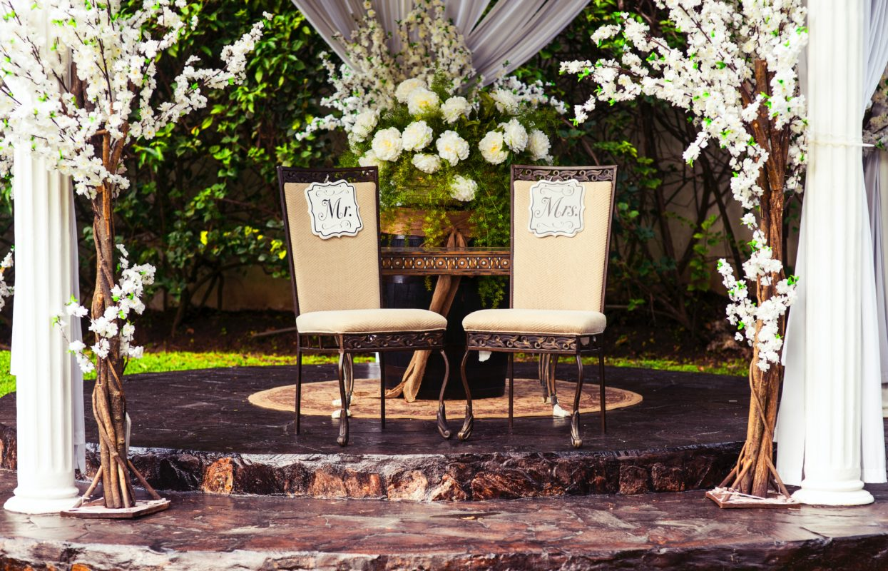wooden decoration wedding furniture